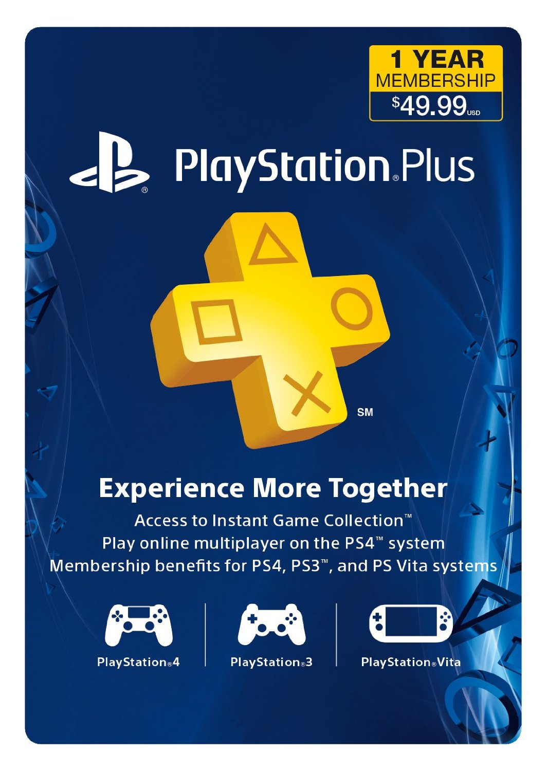 1-Year Playstation Plus Subscription