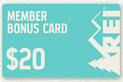 Join REI - Buy $100, Get $20 Bonus Card   Free Shipping from REI