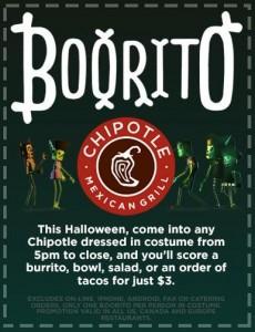 $3 burrito taco salad on Halloween