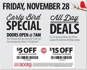 picture of Half Priced Books Black Friday 2014 Ad Scans