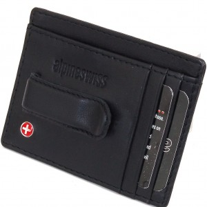 Alpine Swiss Mens Trifold Leather Wallet Sale