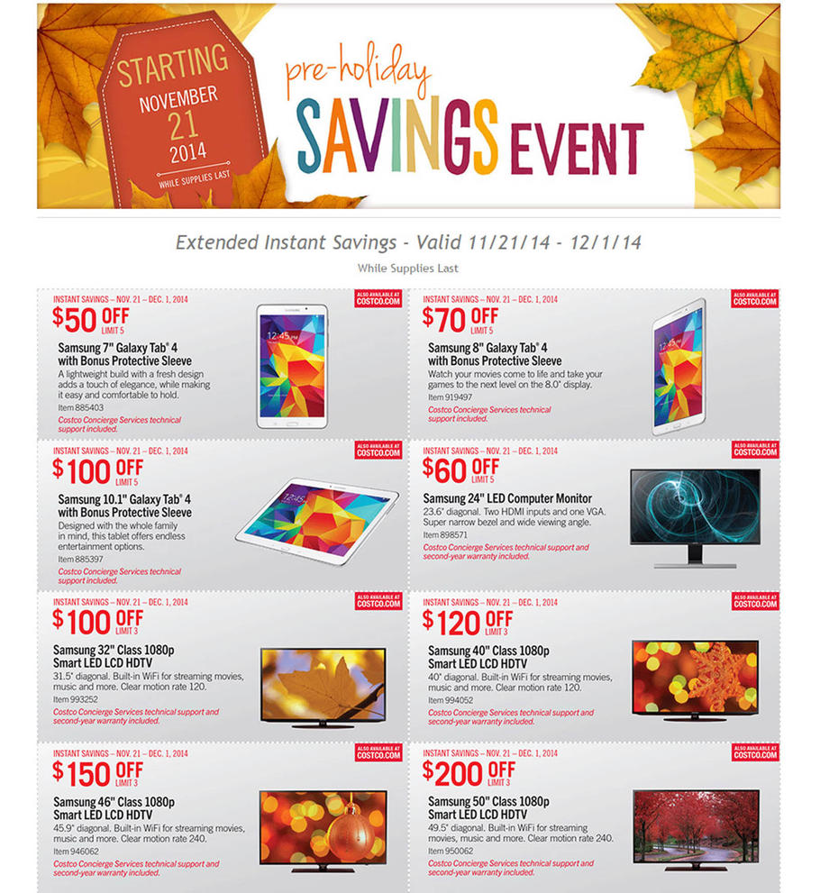 Costco-Pre-Holiday-Savings-Event-2014