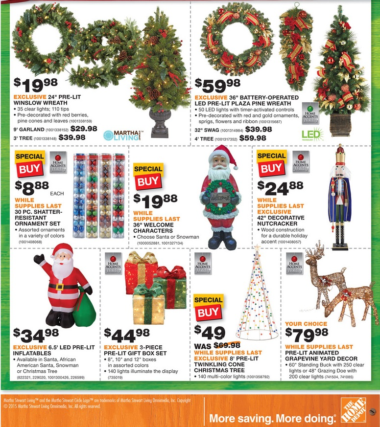 home depot black friday ad 2015 p10 - Home Depot Black Friday Christmas Decorations