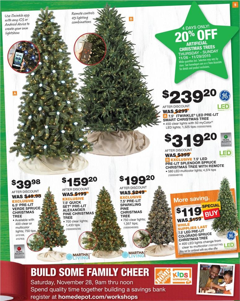Black friday christmas tree deals home depot