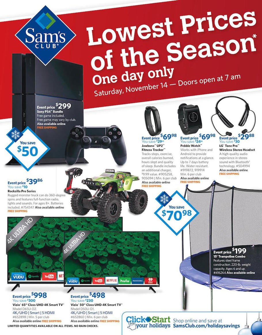 Sam's Club Holiday Gift Guide   Free Shipping from Sams Club