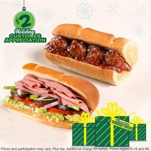 """picture of $2 6"""" Meatball Marinara or Cold Cut Combo Subs"""