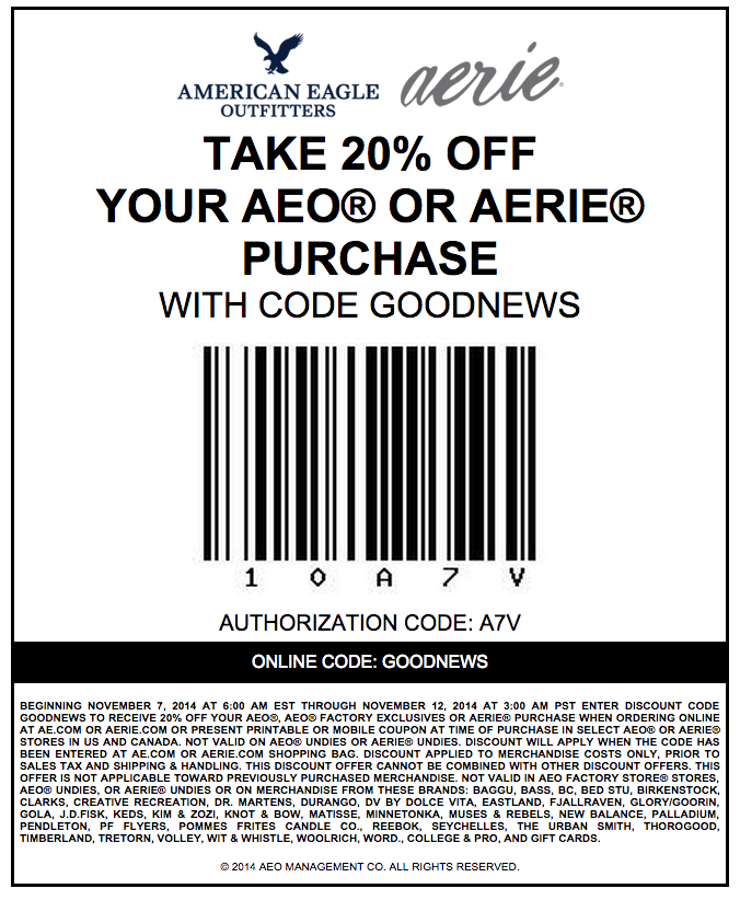 American Eagle Outfitters Coupon