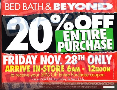 picture of Black Friday 2015: Bed Bath and Beyond Ad Scan