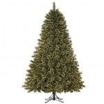 donner and blitzen 7.5 feet pre-lit christmas tree
