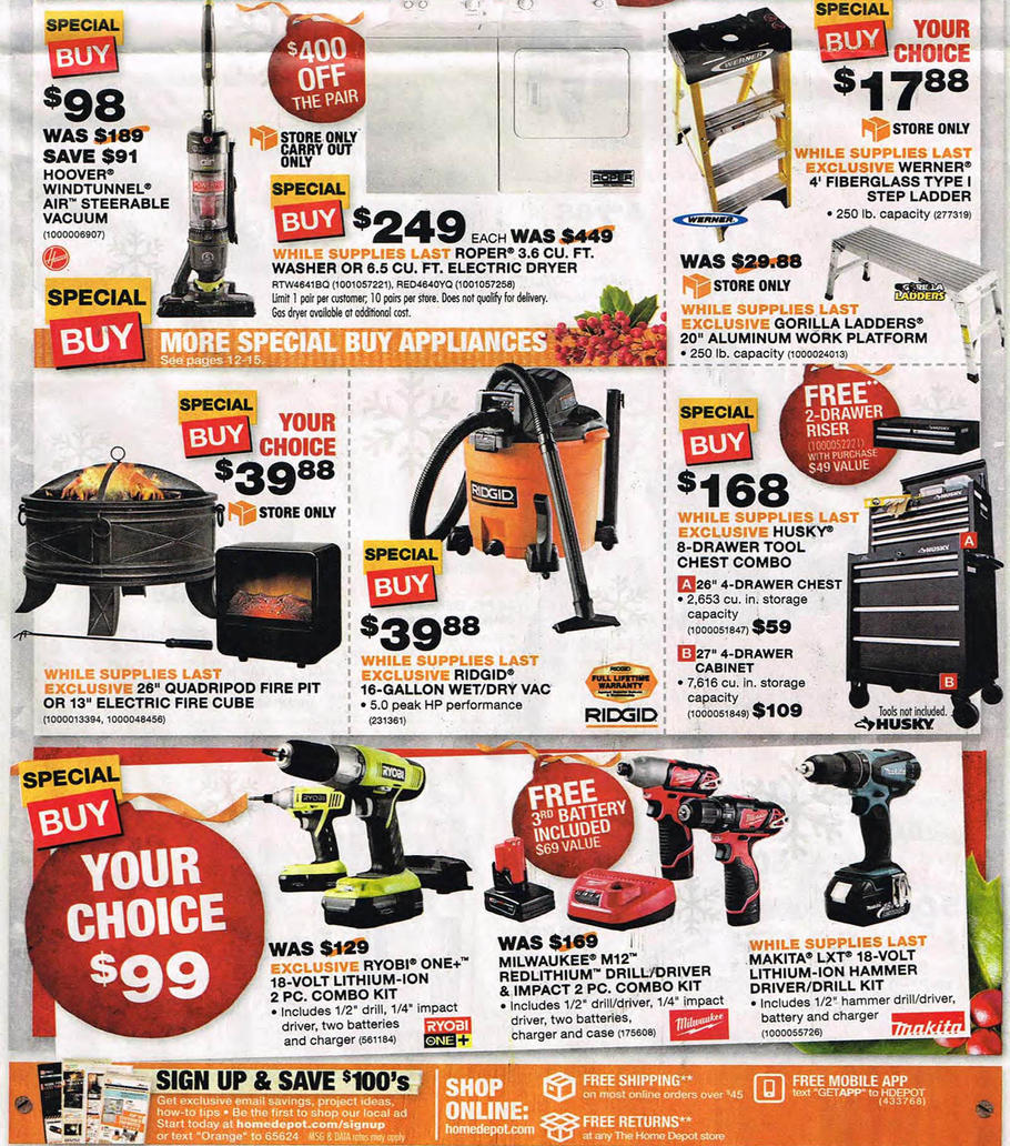 home depot catalog 2015 black friday 2015 home depot ad scan buyvia 596