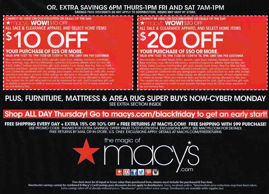 Black Friday 2014: Macy's Ad Scan - BuyVia