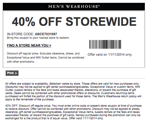 Mens wearhouse coupon code
