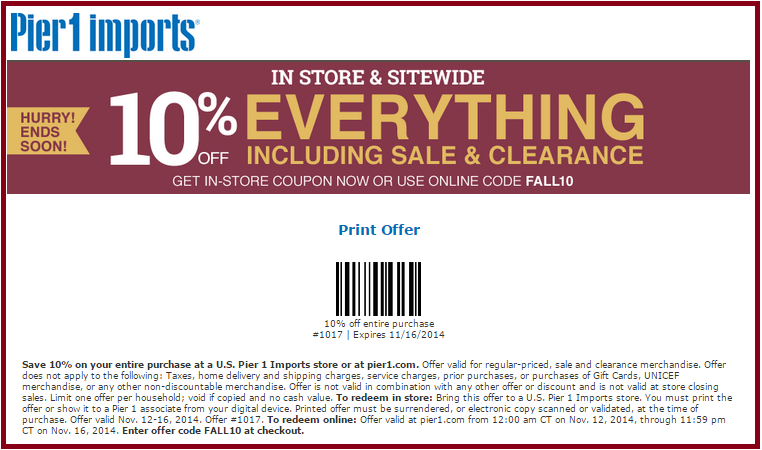 Pier 1 Imports Coupons Promotions Specials For June 2018