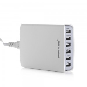 picture of Poweradd 50W 6-Port Family-Sized USB Desktop Charger Sale
