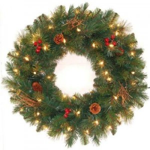 Pre-Lit Hawkins Pine Artificial Wreath Sale