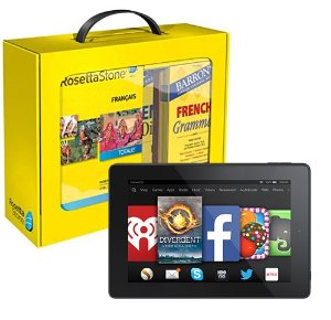 picture of Amazon - $369 Off Rosetta Stone and Fire HD 7 Bundle