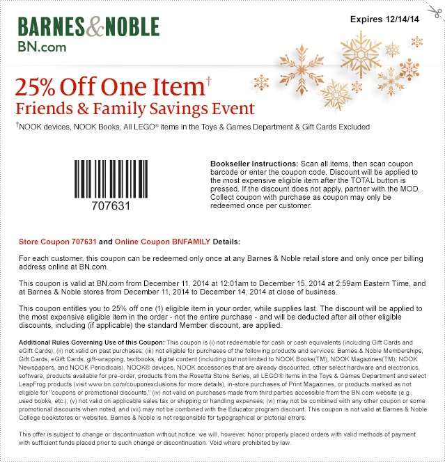 photo relating to Barnes and Noble Printable Coupon named Barnes Noble On-line and in just keep Discount coupons, Offers