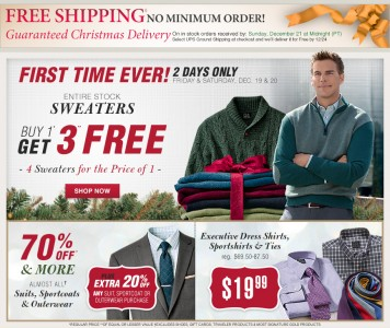 picture of Jos. A. Bank Buy 1 Sweater Get 3 Free