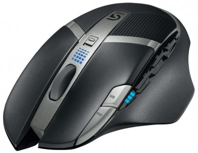 Logitech – G602 Wireless Gaming Mouse – Black