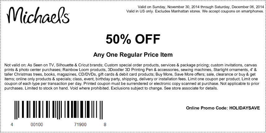 Michaels Online And In Store Coupons Promotions Specials For June 2019