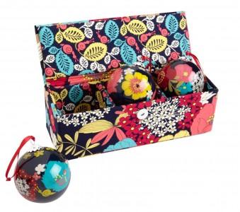 picture of Vera Bradley Ornament Trio in Happy Snails Sale