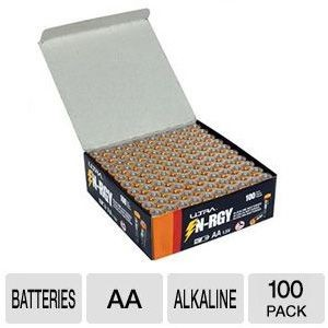 100 Ultra AA Alkaline Battery Sale