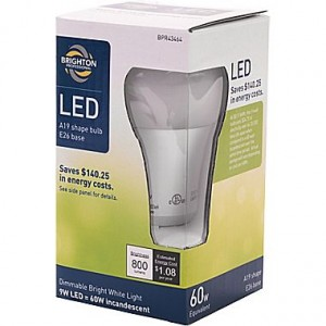 picture of Brighton Professional 9W (60W Eqiv) LED Dimmable Bulb Sale