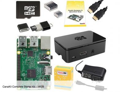 picture of CanaKit Raspberry Pi 3 16GB Starter Kit Sale