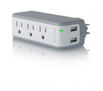 picture of Belkin 3-Outlet Mini Swivel Charger with USB Sale