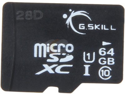 picture of G.SKILL 64GB MicroSDXC Flash Card Sale