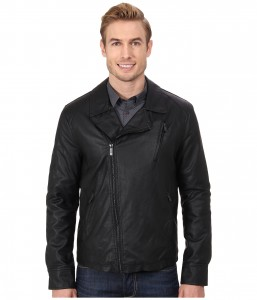 picture of Kenneth Cole Faux Leather Asymmetrical Jacket Sale