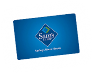Sam's Club Membership, $20 Gift Certificate for $45