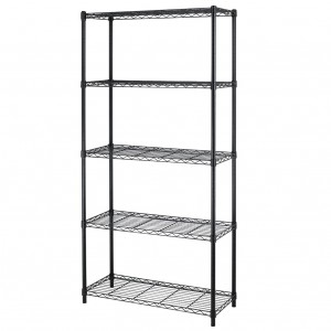 5 Level Adjustable Steel Wire Metal Shelving Rack Sale