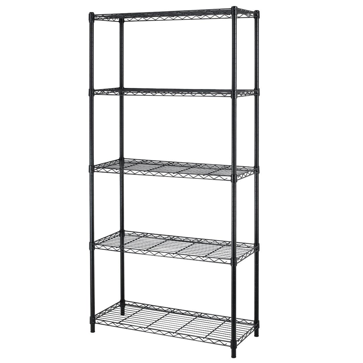 5 Shelf Adjustable Steel Wire Metal Shelving Rack Sale 39 99