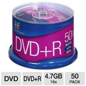 picture of Free 50-Pack of 4.7GB 16x Color Research DVD Media