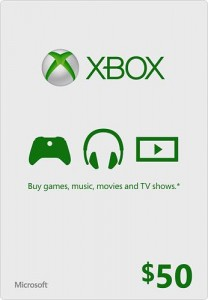 picture of $50 Xbox Gift Card for only $45