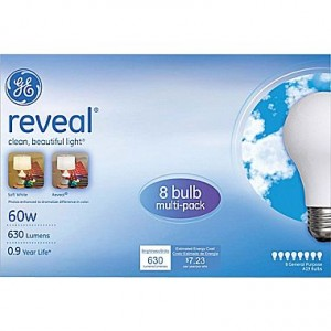 picture of GE 60 Watt A19 Incandescent Light Bulb, 8/Pack Sale