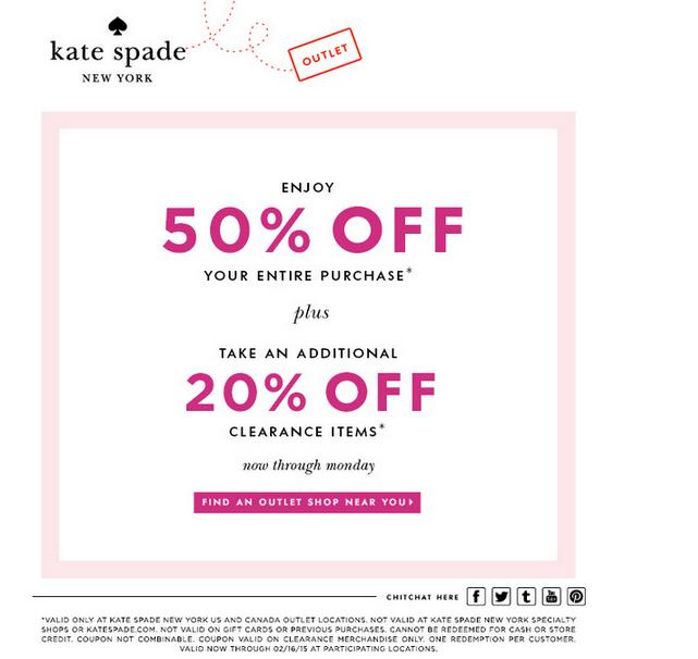 Kate Spade New York Coupon