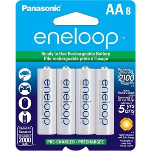 picture of Sanyo eneloop 8 Pack AA or AAA Ni-MH Rechargeable Batteries Sale