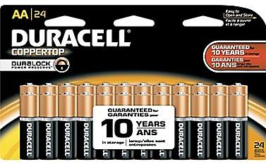 picture of Duracell Battery Coppertop Alkaline AA or AAA 24-pk Sale