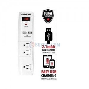 picture of Xtreme 3 Outlet Surge Protector w/Two 2.1A USB Ports Sale