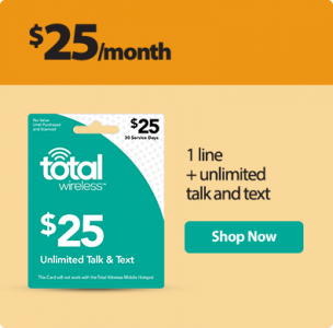 picture of Total Wireless No Contract Service from $25