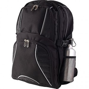picture of Black Backpack with Aluminum Water Bottle Sale