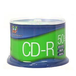 picture of Free 50-Pack 52x Color Research CD-R Writeable Media