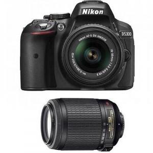 picture of Nikon D5300 24Mpixel Digital SLR 18-55/55-200 Sale