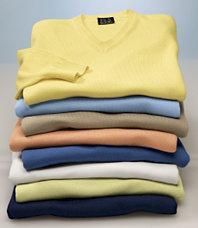 Signature Pima cotton V sweater