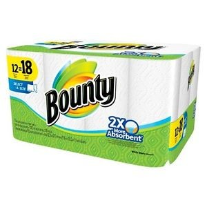 Bounty Select-A-Size White Paper Towels 12 Giant Rolls Sale