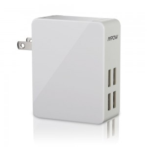 Mpow 25W/5A 4-Port Ultra Portable multiple USB Wall Charger Travel Power Adapter Sale