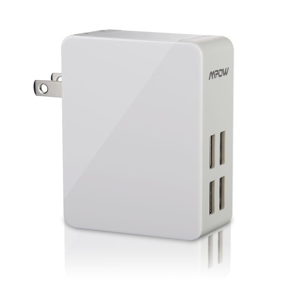 Mpow 25w 5a 4 Port Ultra Portable Multiple Usb Wall