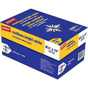 picture of Staples Bright White Paper 5,000 Sheet Case Sale